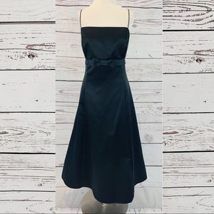 David's Bridal black bridesmaid dress